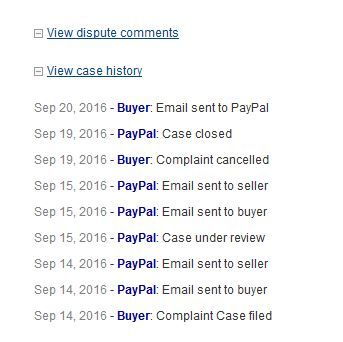 Sep 19th, 2016 - Buyer Complaint Cancelled? I NEVER cancelled my complaint