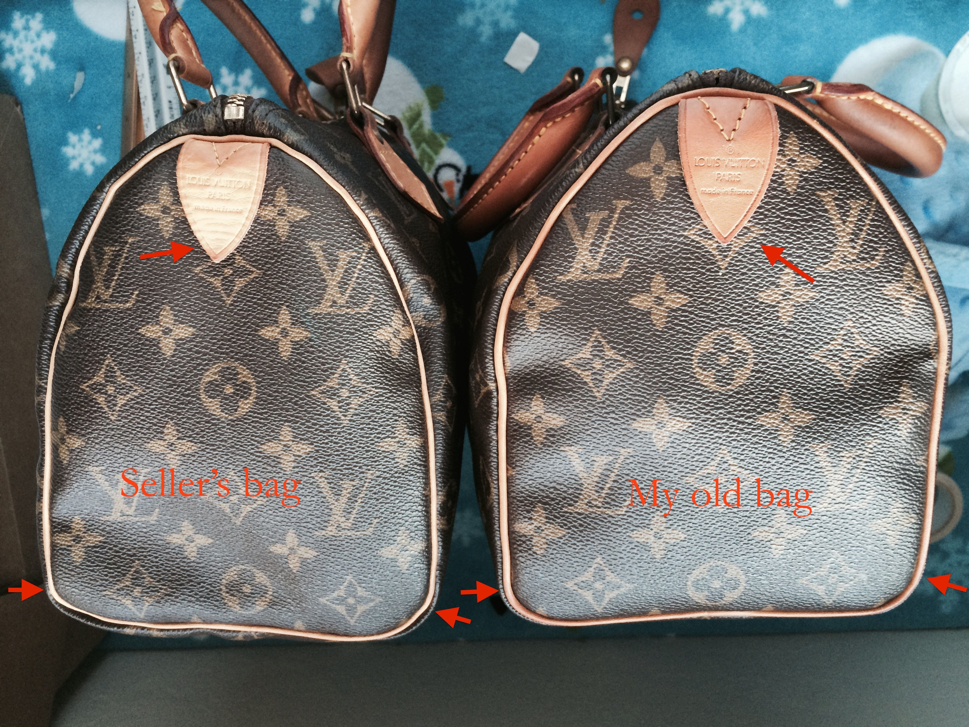 f962db5dc497 Solved  Seller sold a fake Louis Vuitton speedy 25 to me - The eBay ...
