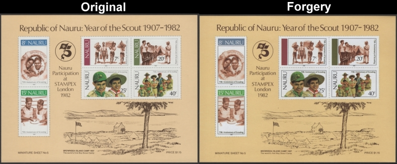 nauru_1982_scouting_year_original_and_fake_souvenir_sheet_comparison.jpg