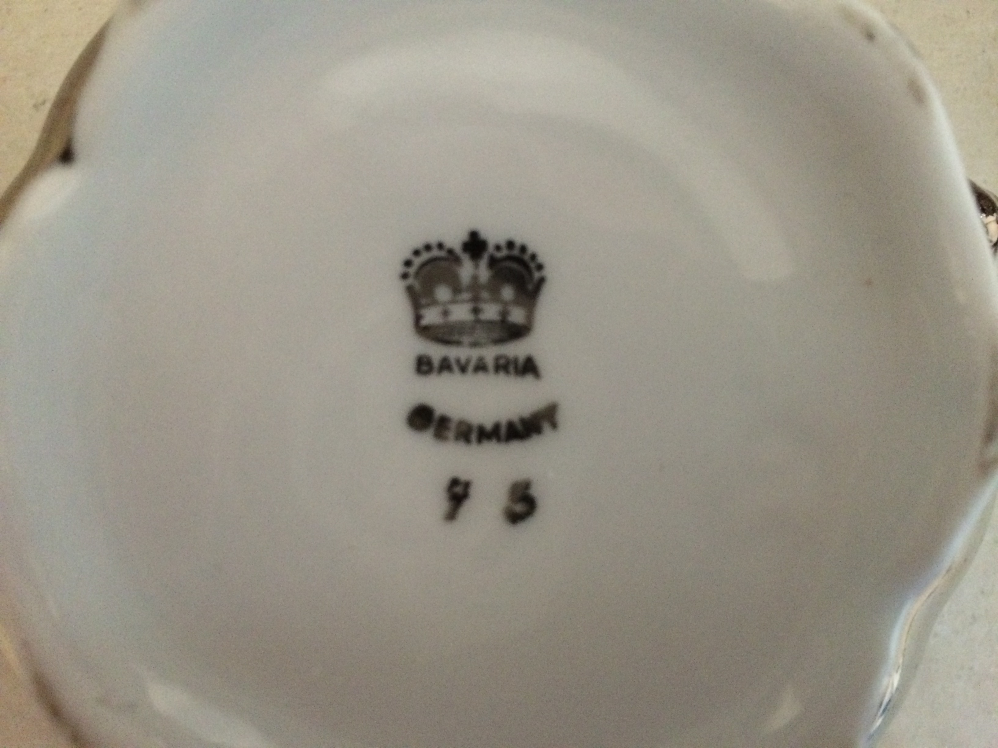 Please Help With Bavaria Germany Crown Mark On Por The Ebay
