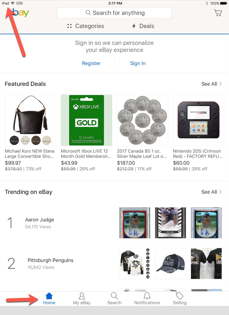 Iphone App Not Ipad App Showing Up On The New 1 The Ebay Community