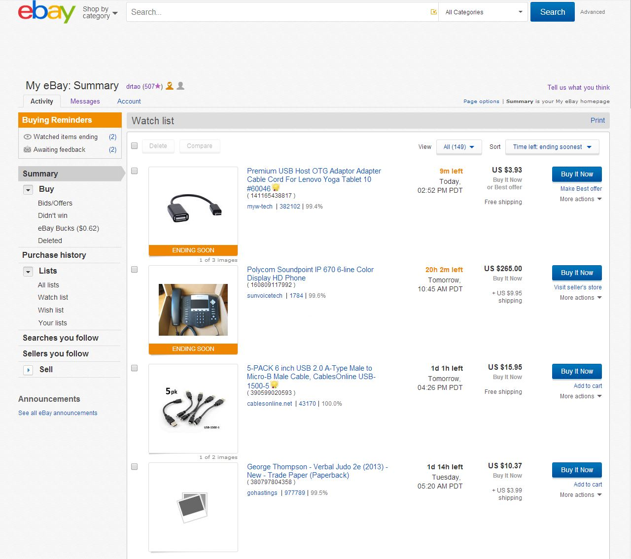 I Hate The New Design Of The My Ebay Area The Ebay Community