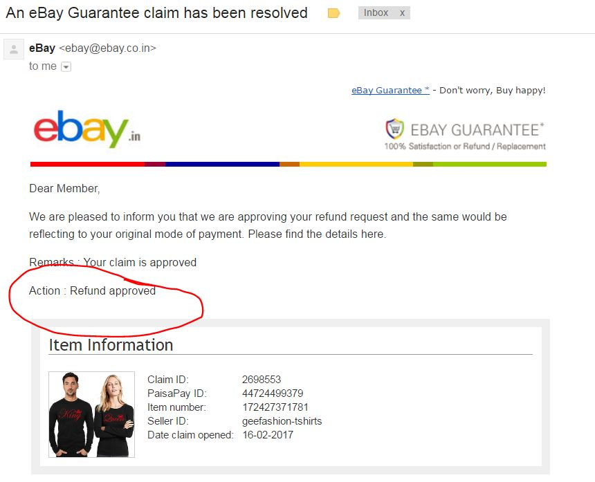 Not Credited Refund Amount To My Bank The Ebay Community
