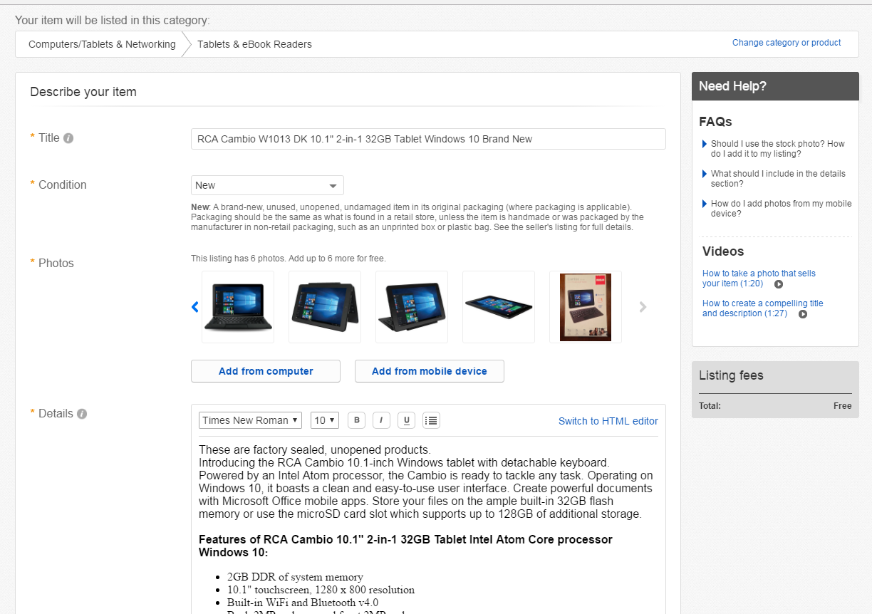 How To Add Upc To My Listing Item The Ebay Community
