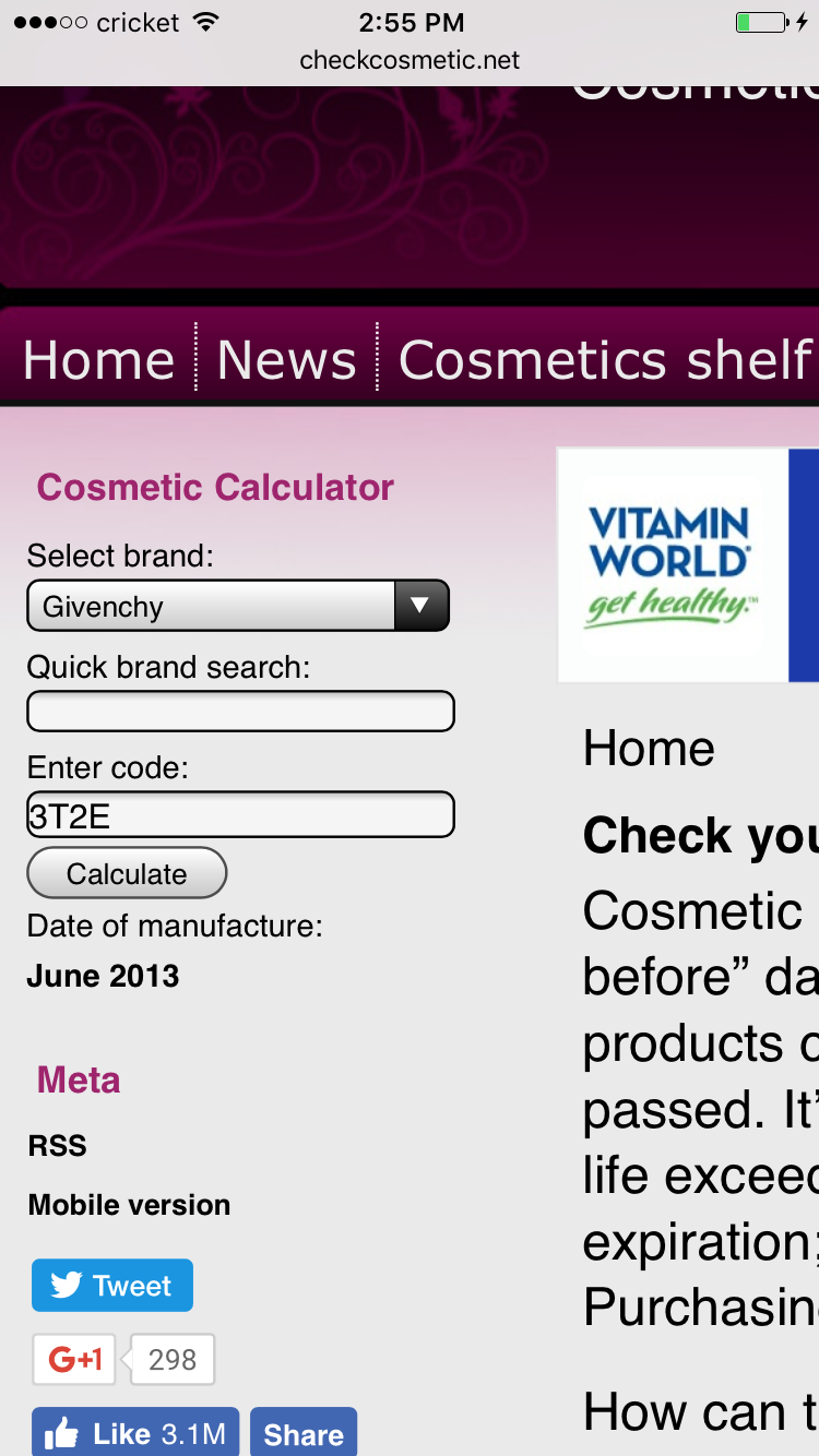 Skin care expiration date calculator  Dr  Oz's Skin Moisture