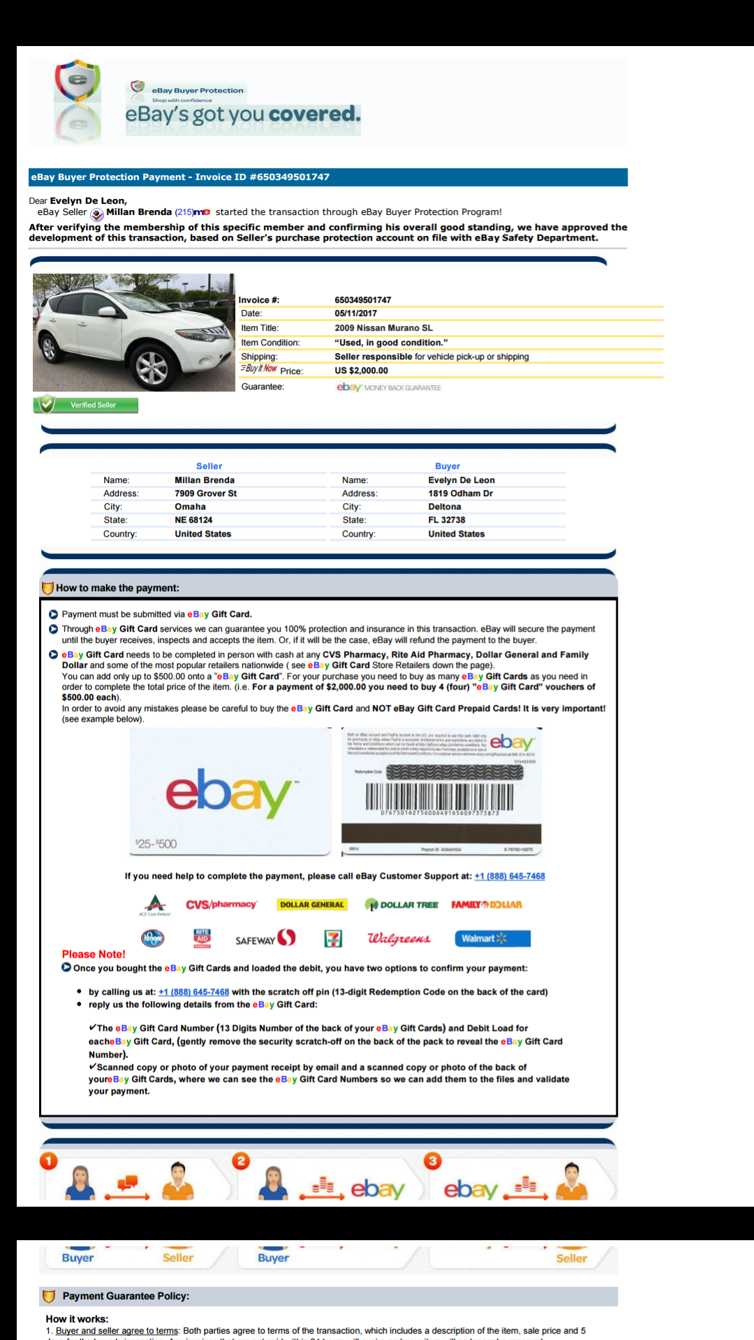 Solved Vehicle The Ebay Community