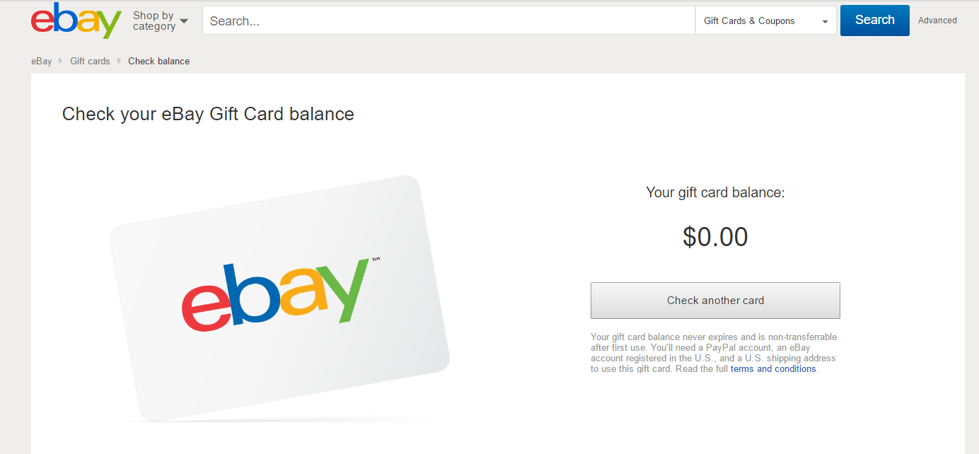 Clean Up, Cash In' eBay Gift Card Doesn't Work/Ze... - The eBay ...
