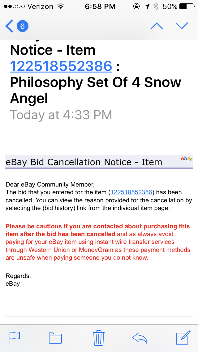 Solved My Bid Was Cancelled The Ebay Community