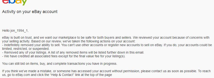 Solved Suspended Ebay Account The Ebay Community