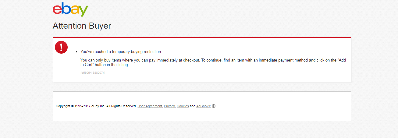 Cannot Bid For An Item The Ebay Community