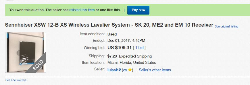 Won The Auction Seller Says Item Is Not Available The Ebay Community