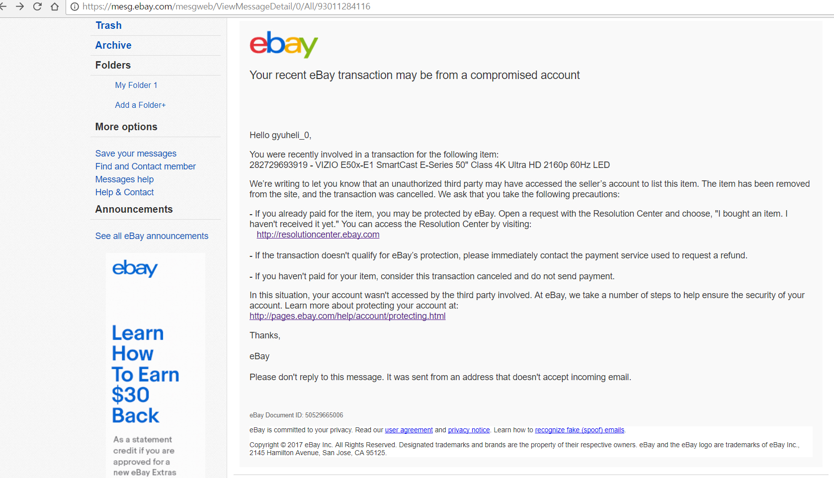 I Ask You For A Refund The Ebay Community