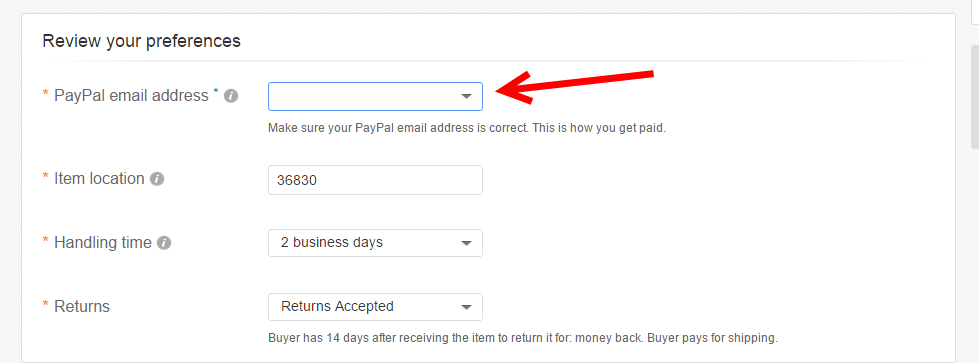 Solved How Can I Add My Paypal Email Address That I Want The Ebay Community
