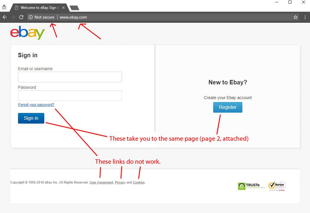 Ebay Fake Login Page The Ebay Community