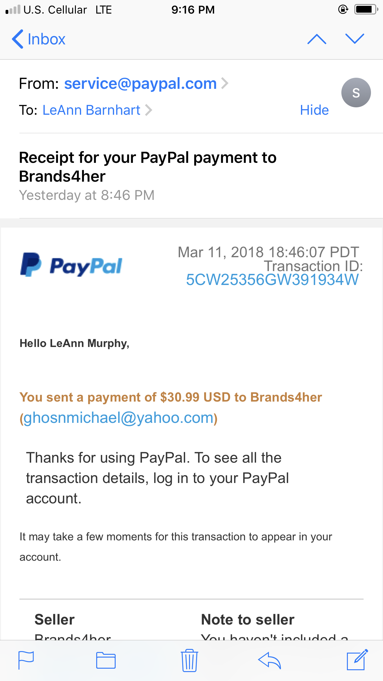 Paypal Receipt The Ebay Community