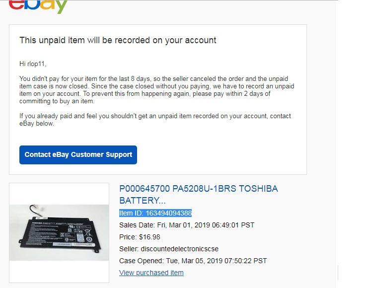 Item Id 163494094388 The Ebay Community