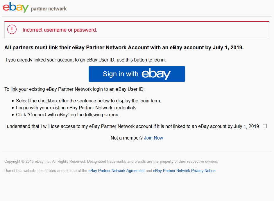 Unable To Signup For A Ebay Epn Account The Ebay Community