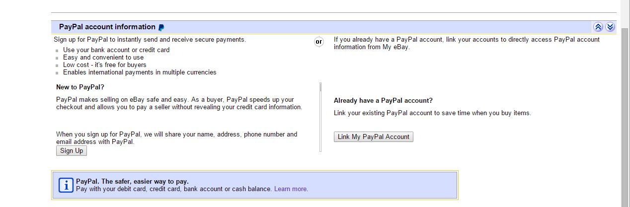 Cannot Unlink Paypal From Ebay The Ebay Community