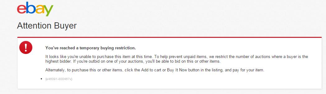 I Can T Bid Anymore The Ebay Community