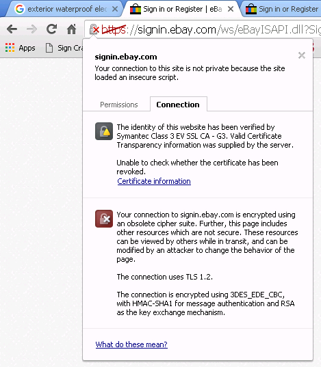 Site Security not valid in Chrome - The eBay Community