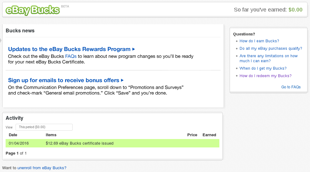 Solved Why I Cannot Use My Ebay Bucks The Ebay Community