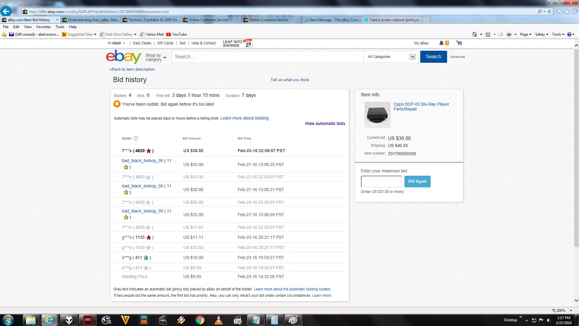 Automatic Bidding The Ebay Community