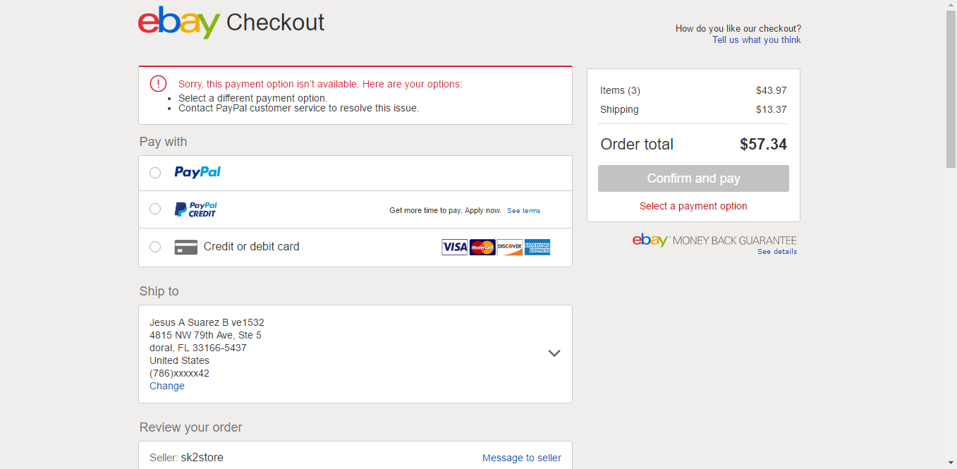 Ebay Payment Options >> Problem With Buy Something The Ebay Community