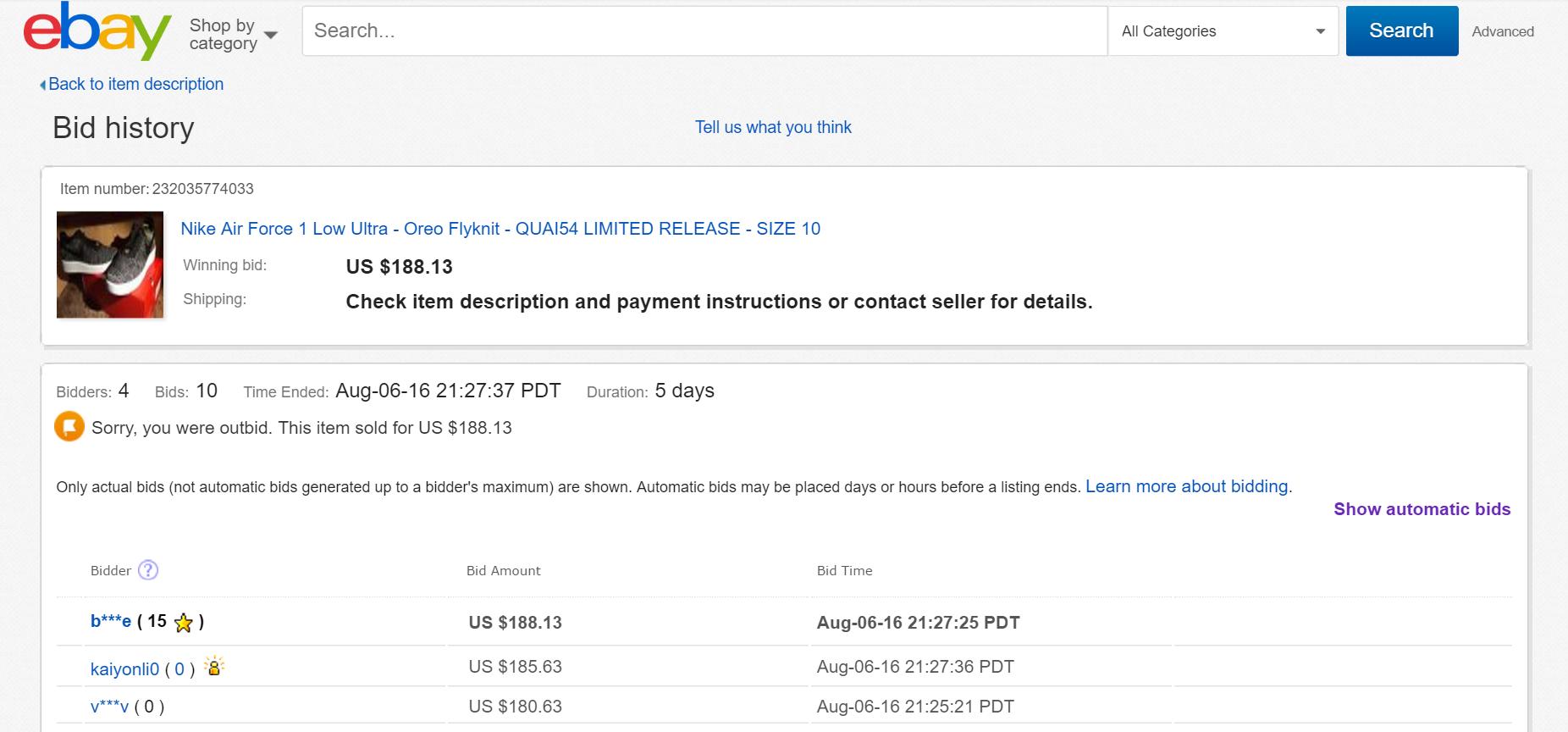 Bidding Time Hack By Ebay Autobid The Ebay Community