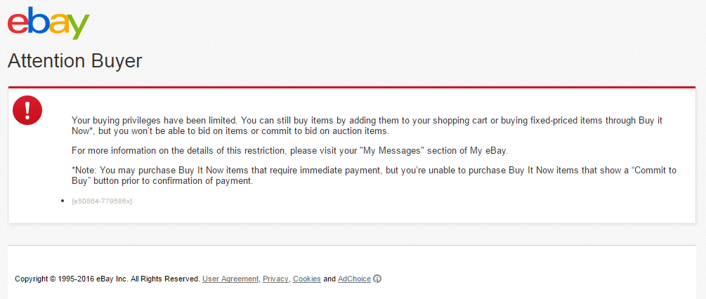 Buying Privileges The Ebay Community