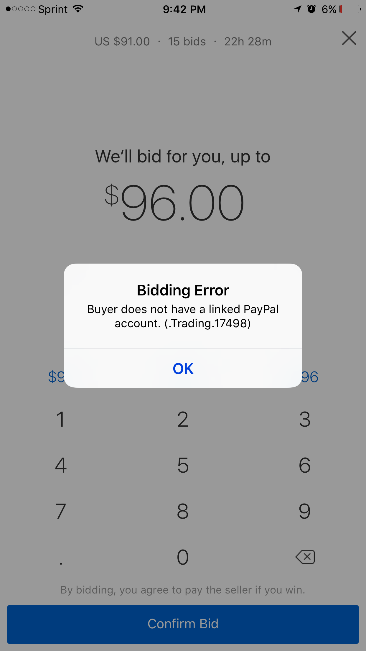 Bidding Error The Ebay Community