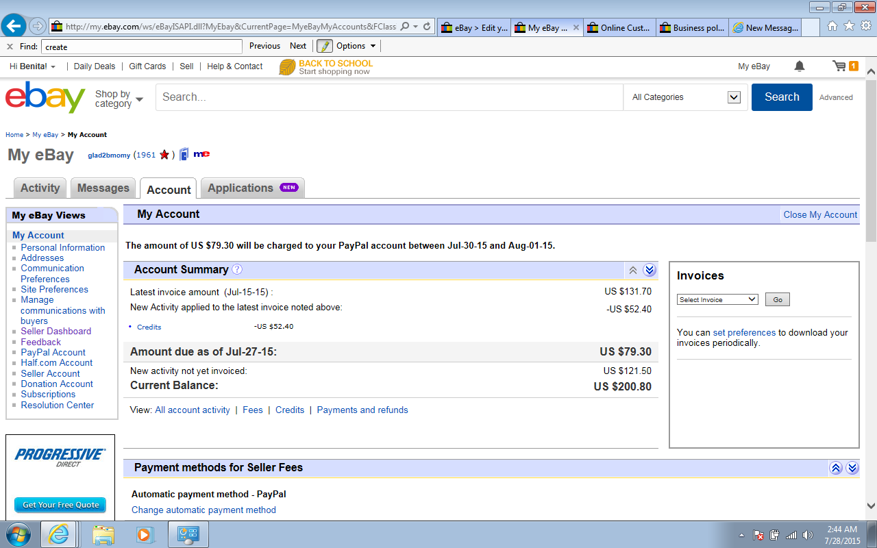 Go to My eBay > Account > Business policies - The eBay Community