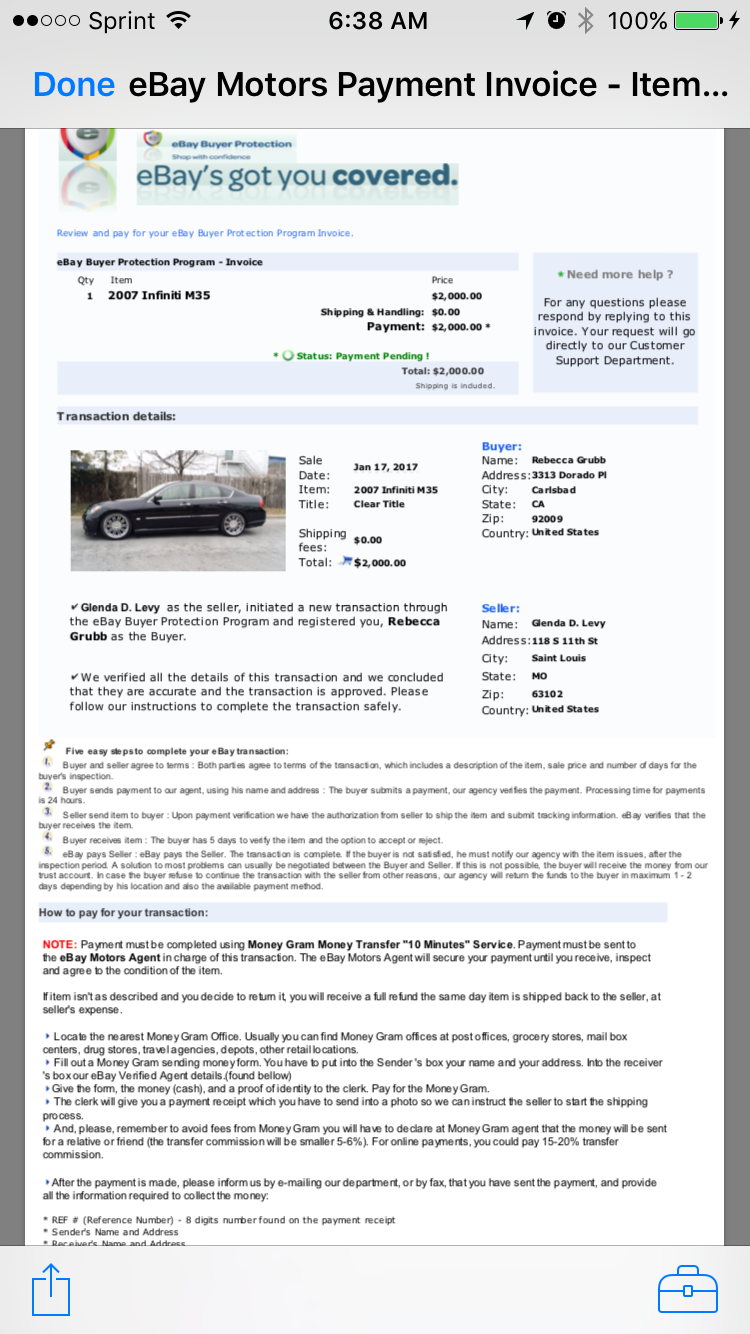 Solved Re Possible Fraud The Ebay Community