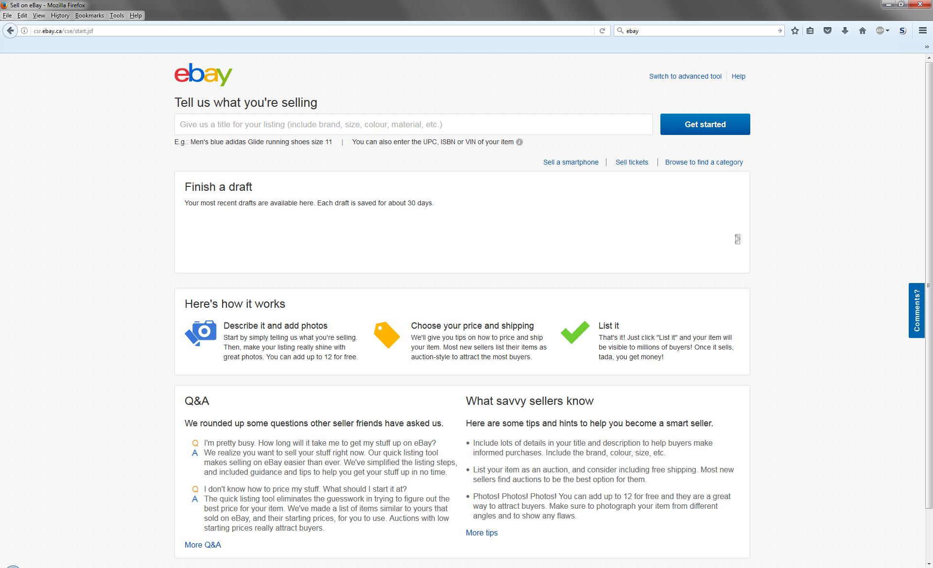 2 Different Sell Pages One Does Not Show My Listi The Ebay Community