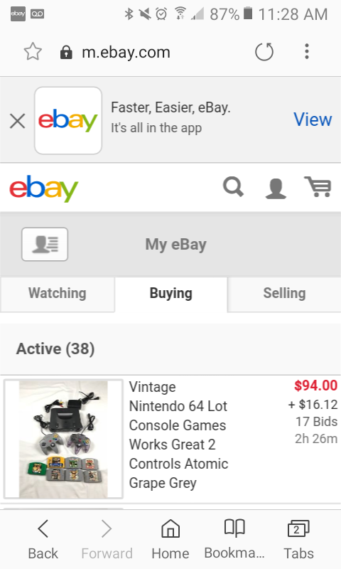 Classic Site On Mobile The Ebay Community