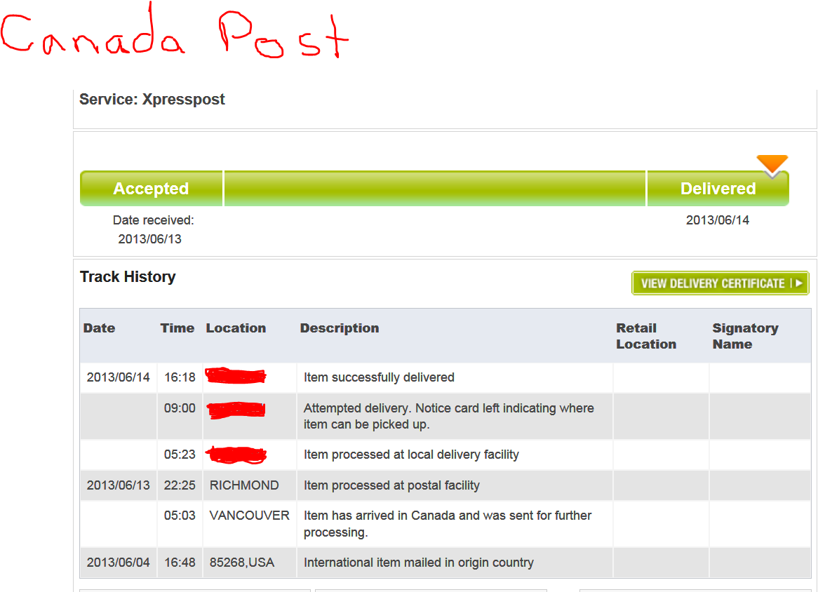 canada post tracking system update