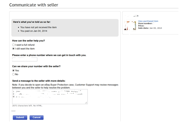Contact Seller Open A Dispute Needs To Go Aw The Ebay Community