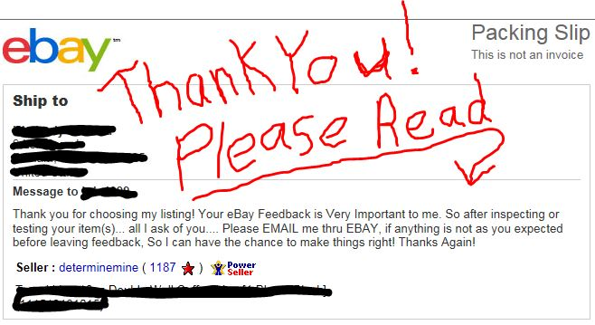 Solved: Feedback - Page 4 - The eBay Community
