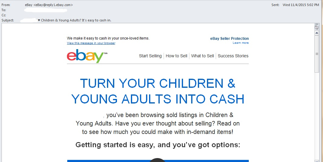 Lol Epic Fail On This Email From Ebay Sell My Ch The Ebay Community