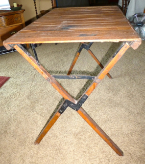 Information On Antique Wood Folding Camping Tab The Ebay Community