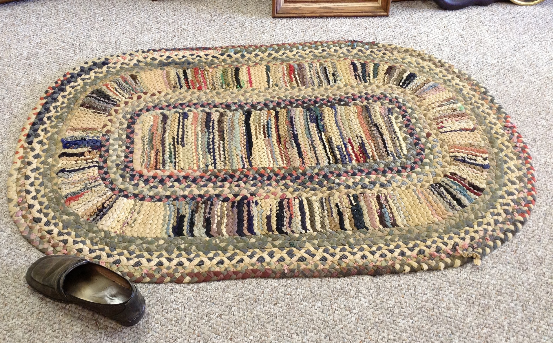 Antique Braided Rug Pattern The