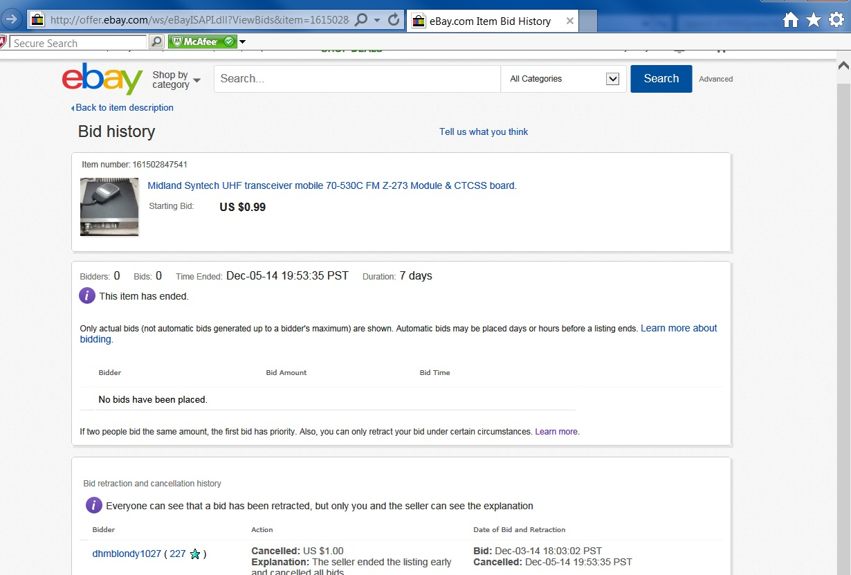 Solved Seller Canceled My Bid Page 4 The Ebay Community