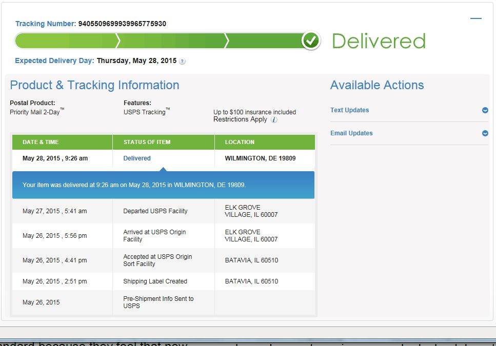 Solved: can USPS tracking delivered status guarantee the s ...