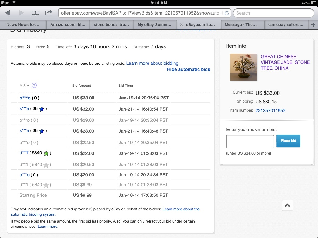 Buyer With No History Doubles Price On First Bid The Ebay Community