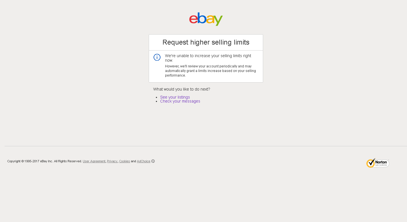Request Higher Selling Limits The Ebay Community
