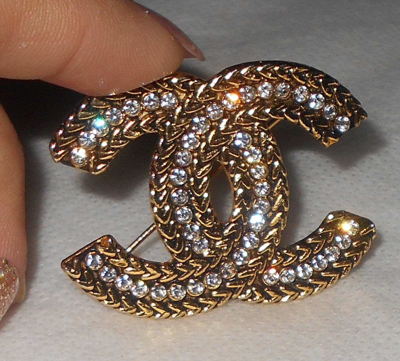 box baguette brooches chanel front cc l in org v at jewelry brooch sale for crystal id pin