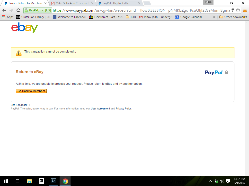 eBay email gift card does not work...PayPal will n ... - photo#48