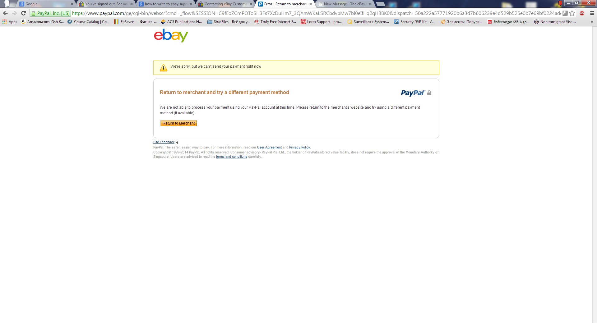 Solved: PayPal payment problem - The eBay Community