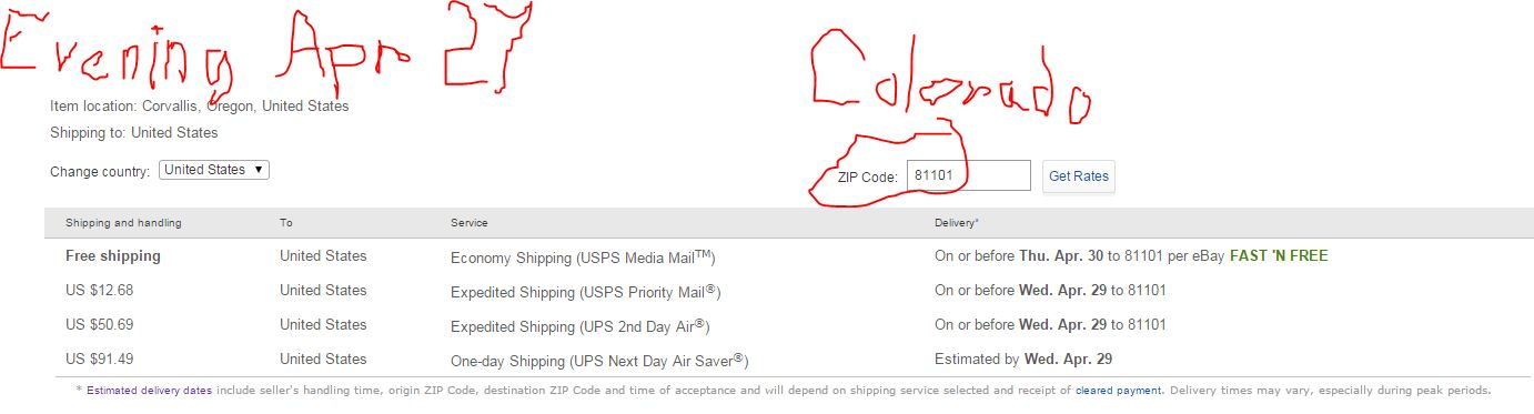 Ebay added a banner: Says my Media Mail package wi    - The