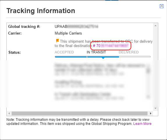 Solved: how to track UPAAB xxxxxx packages?! - The eBay
