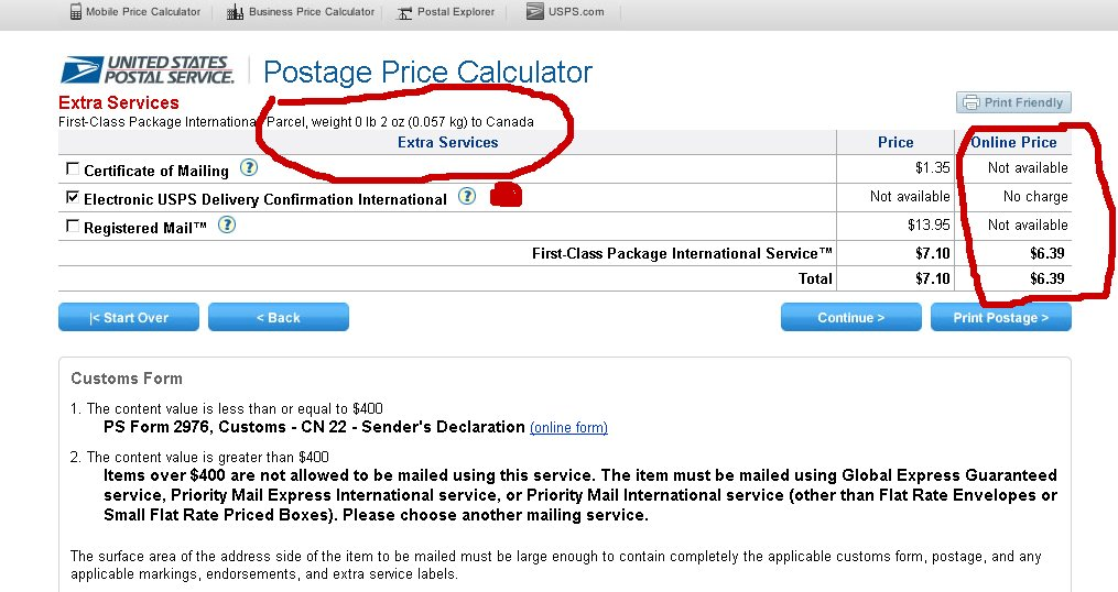 Solved: Where to find: USPS First Class Mail intl / First